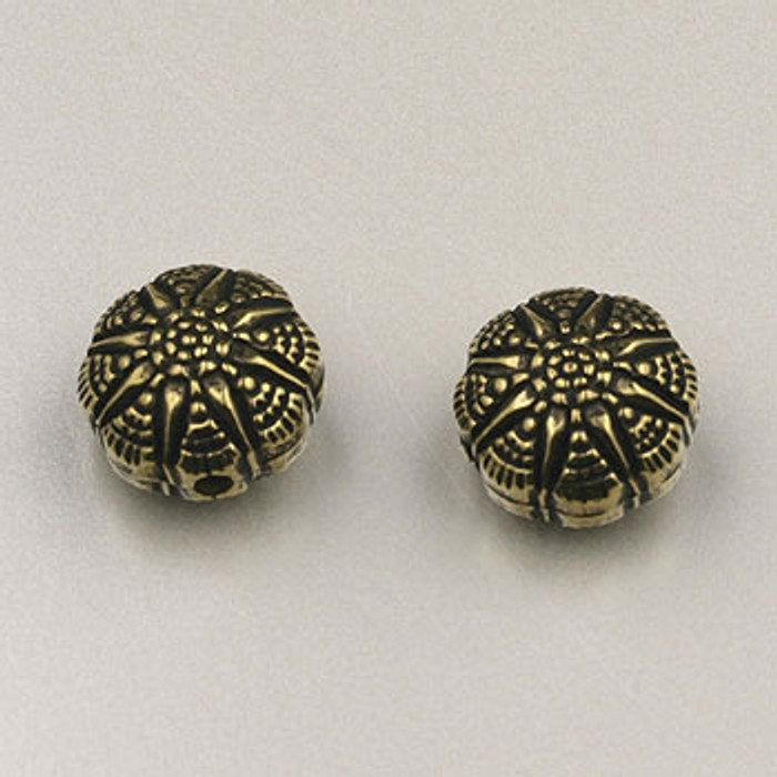 GP0040 - 12mm Celestial Star Bead, Antique Oxidized Gold Plate (pkg of 25)