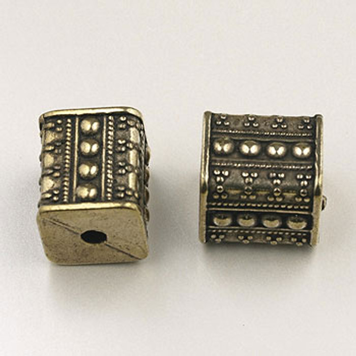 GP0043 - 10x12mm Large Square, Antique Oxidized Gold Plate (pkg of 15)