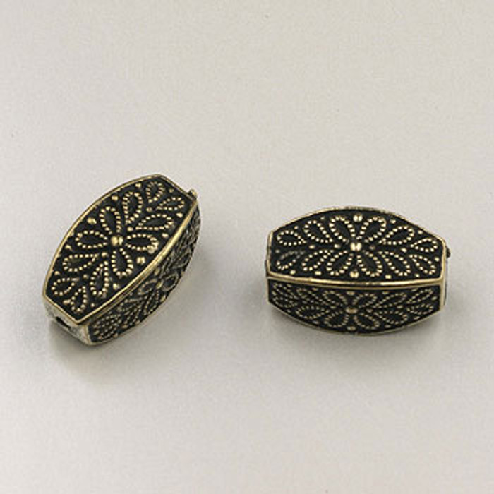GP0046 - 8x17mm Large Scroll, Antique Oxidized Gold Plate (pkg of 10)