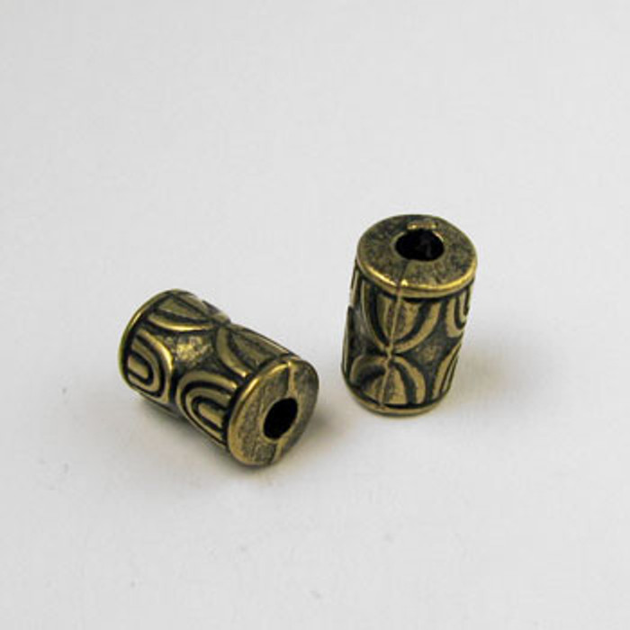 GP0050 - 6x11mm Tube, Antique Oxidized Gold Plate (pkg of 25)