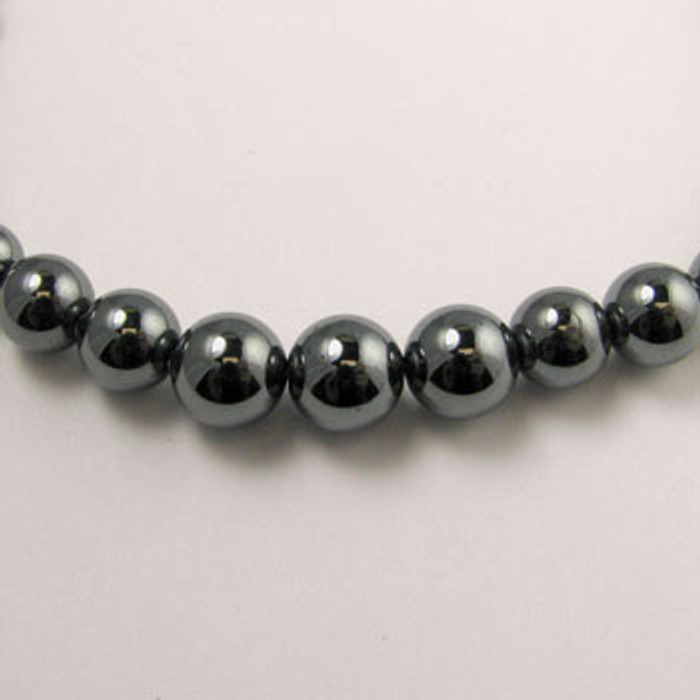 H058 - 4-12mm Graduated Round, Hematite (16 in. strand)
