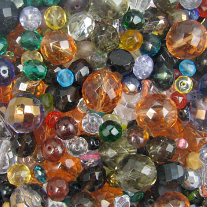 MIX0001 - Czech Fire Polish Mix - (assorted sizes/shapes/colors) - approx. 78 beads per 50 grams
