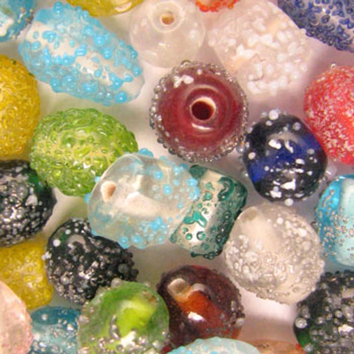 MIX0076 - India Sugar Bead Mix - (assorted sizes/shapes/colors) - approx. 41 beads per 50 grams