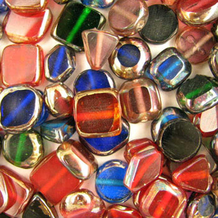 MIX0083 - India Table Cut Mix - (assorted sizes/shapes/colors) - approx. 42 beads per 50 grams