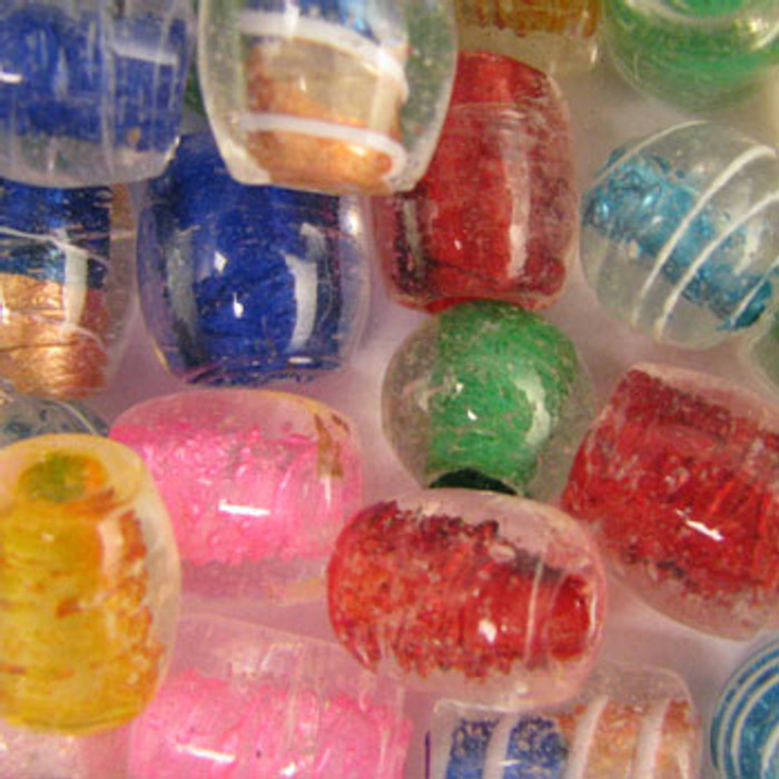MIX0095 - India Pastel Mix - (assorted sizes/shapes/colors) - approx. 23 beads per 50 grams