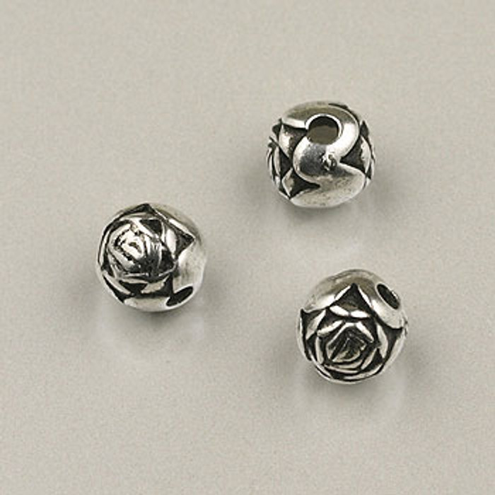 SP0022 - 6mm Rosebud Silver Plate (pkg of 200)