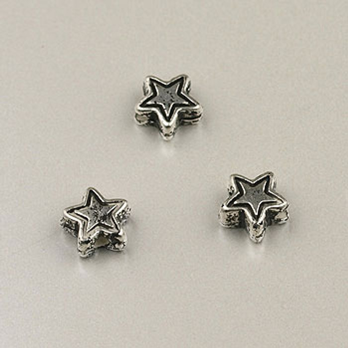 SP0054 - 7mm Star, Silver Plate (pkg of 100)