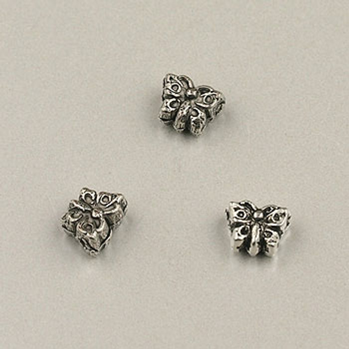 SP0055 - 4mm Butterfly Silver Plate (pkg of 50)