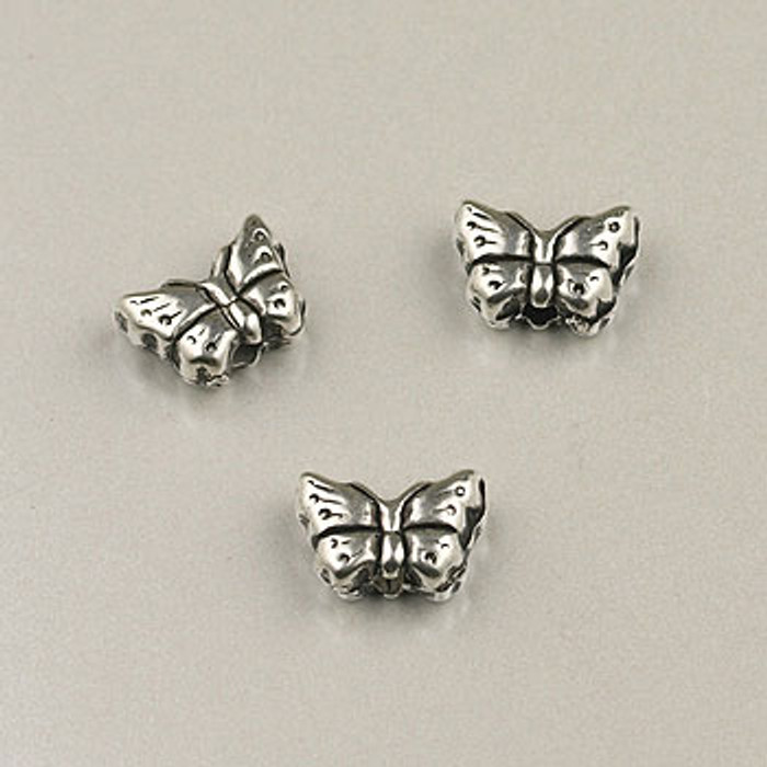 SP0056 - 8mm Butterfly, Silver Plate (pkg of 50)