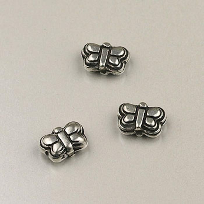 SP0057 - 9mm 3-D Butterfly Silver Plate (pkg of 75)