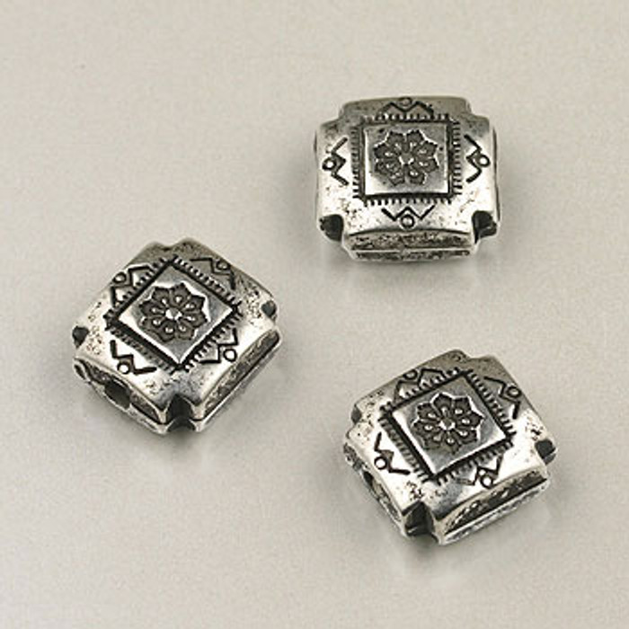 SP0068 - 10mm Small 4-Corners Silver Plate (pkg of 20)