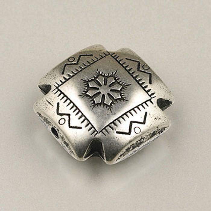 SP0070 - 22mm Large 4-Corners Silver Plate (each)