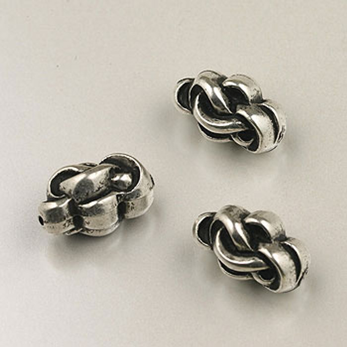 SP0092 - 16mm Knot Bead Silver Plate (pkg of 15)