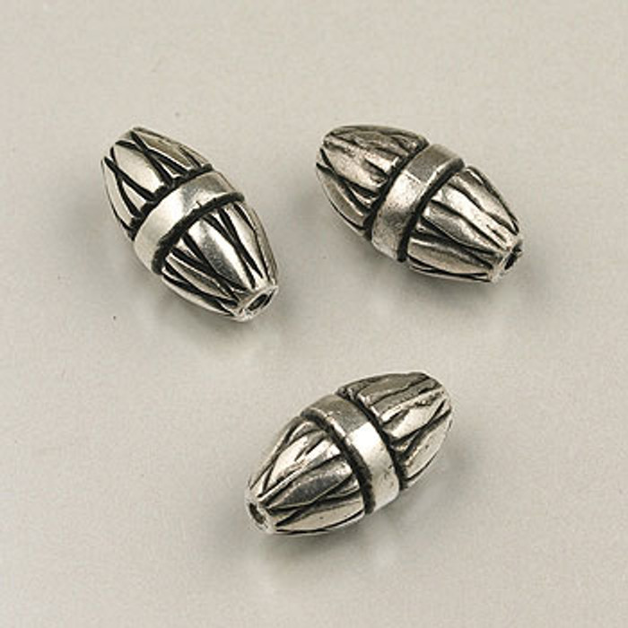 SP0105 - 15mm Carved Oval Silver Plate (pkg of 10)