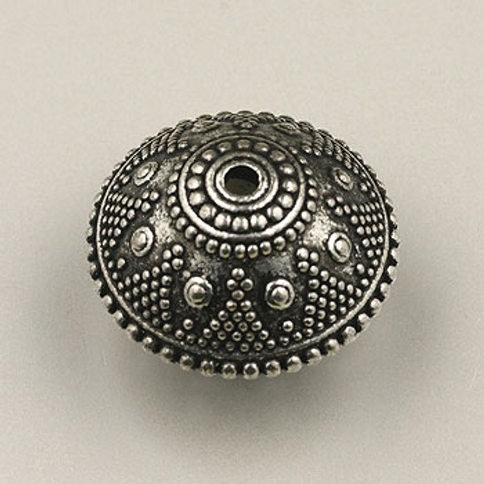 SP0130 - 24mm Fancy Jupiter Bead Silver Plate (pkg of 6)