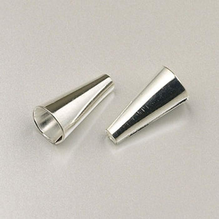 SP0143 - 1/2-inch Cones Silver Plate (pkg of 12)