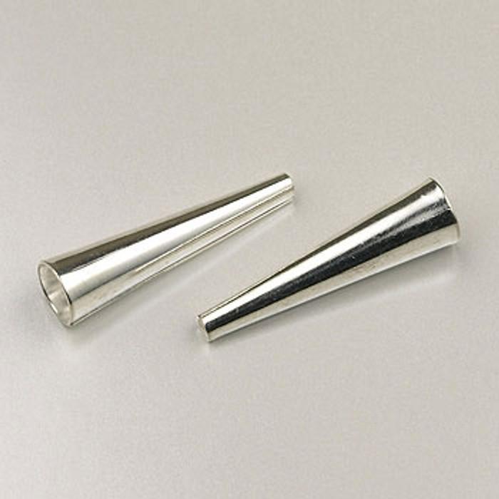SP0144 - 1-inch Cones Silver Plate (pkg of 12)