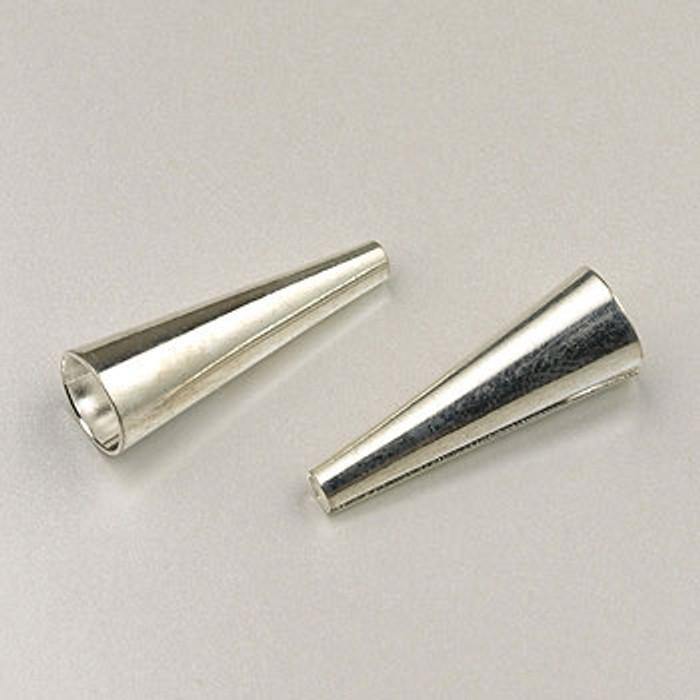 SP0145 - 3/4-inch Cones Silver Plate (pkg of 12)