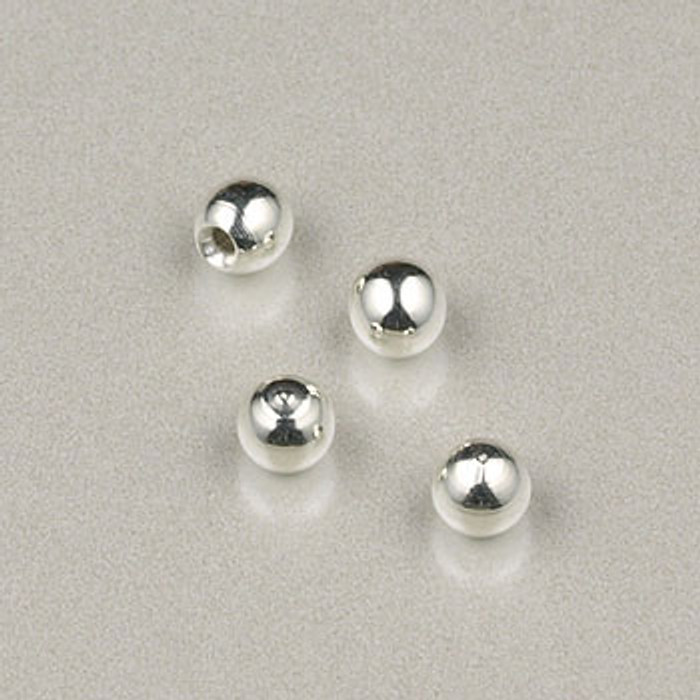 SP0220 - 3mm Memory-Wire End Round  Silver Plate (pkg of 24)