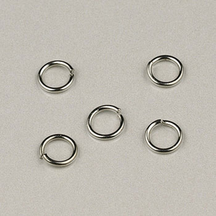 SP0225 - 5mm 18ga Jump Ring, Nickel Color, Silver Plate