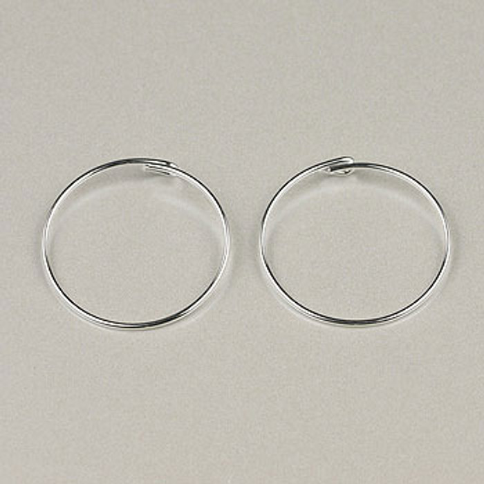 SP0265 - 3/4 in. Beading Hoop, Silver Plate (pkg of 36)