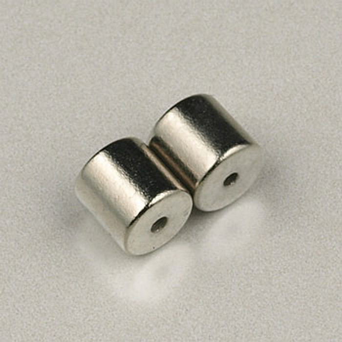 SP0314 - 5x5mm Magnetic Tube Clasp Silver Plate (5 sets)