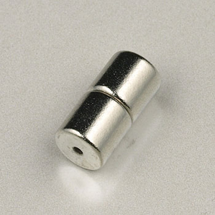 SP0315 - 6x6mm Magnetic Tube Clasp Silver Plate (5 sets)
