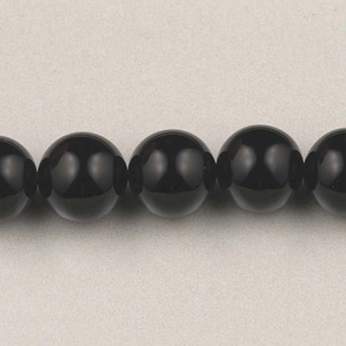 SPS0015 - Black Onyx, 4MM Round (16 in. strand)
