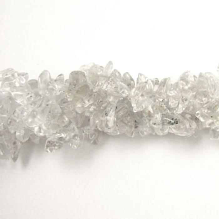 SPSC012 - Crystal Quartz Semi-Precious Stone Chip Beads (36 in. strand)