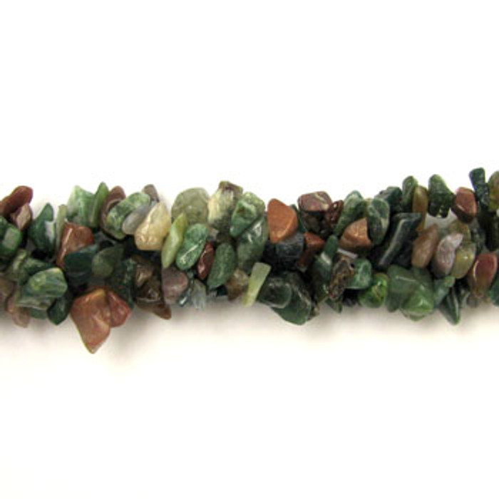 SPSC013 - Fancy Jasper Semi-Precious Stone Chip Beads (36 in. strand)