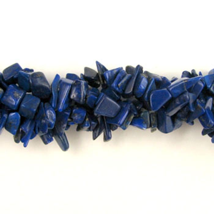 SPSC020 - Lapis Lazuli Semi-Precious Stone Chip Beads (36 in. strand)