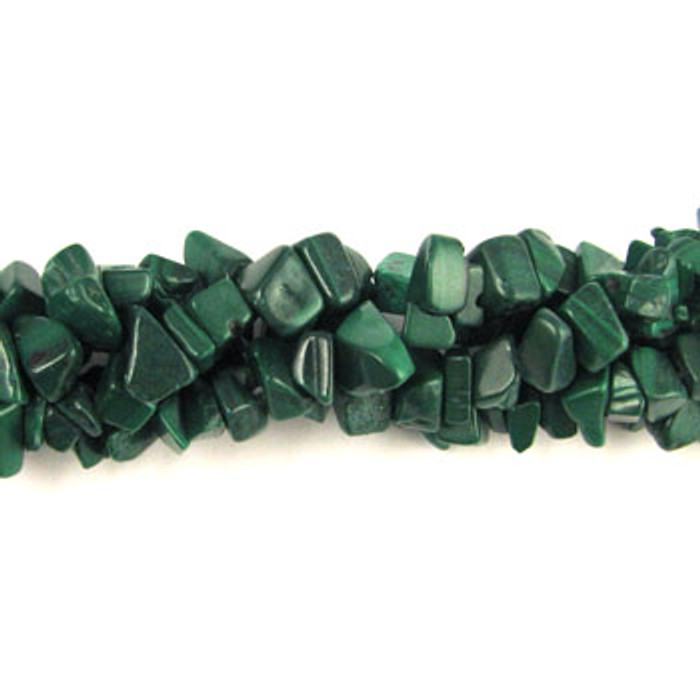 SPSC022 - Malachite Semi-Precious Stone Chip Beads (36 in. strand)