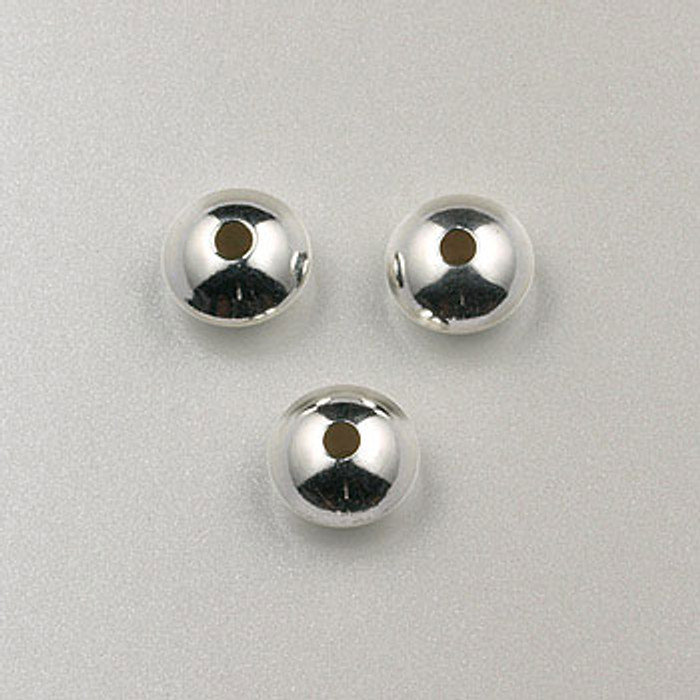 SS0010 - 6mm Dome Rondelle, Sterling Silver (pkg of 25)