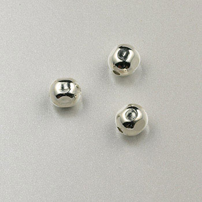 SS0015 - 4mm Round Faceted Bead, Sterling Silver (pkg of 25)