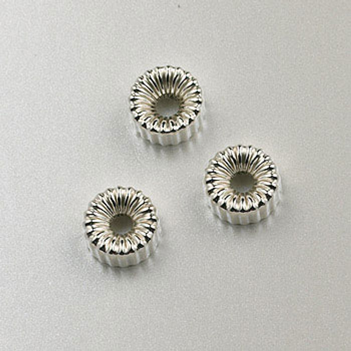SS0029 - 6mm Corrugated Tire, Sterling Silver (pkg of 25)