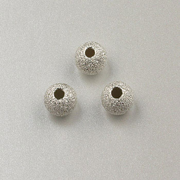 SS0031 - 4mm Stardust Round, Sterling Silver (pkg of 10)