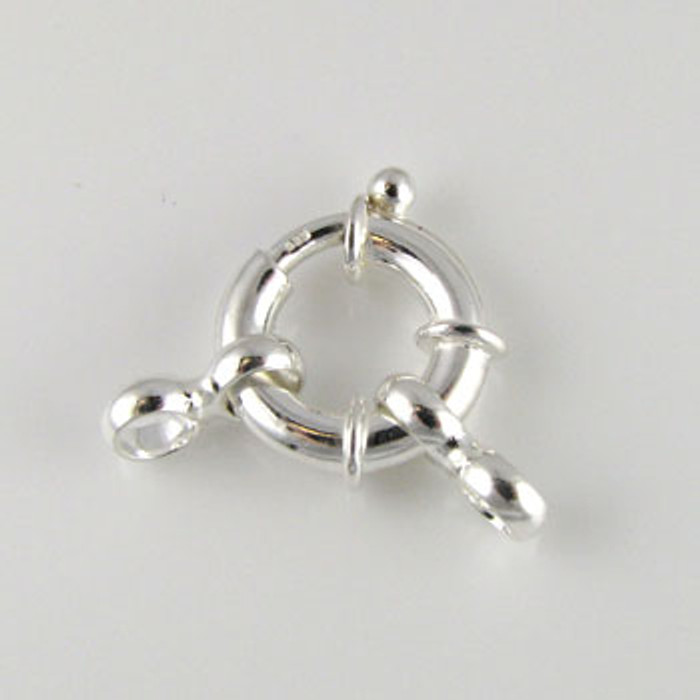 SS0094 - 16mm Large Spring Ring Clasp, Sterling Silver (each)