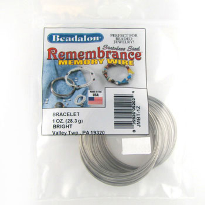 STR0045 - Bright, Bracelet, Beadalon Remembrance Memory Wire (JMBT01Z) (1 oz)