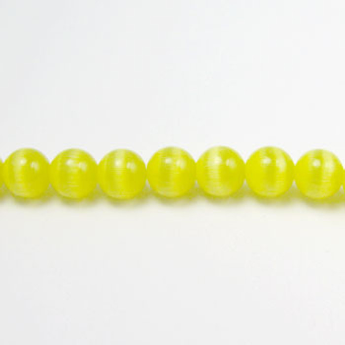 FOR005 - Light Yellow Fiber Optic, Rounds (approx. 14in. strand) - 4MM