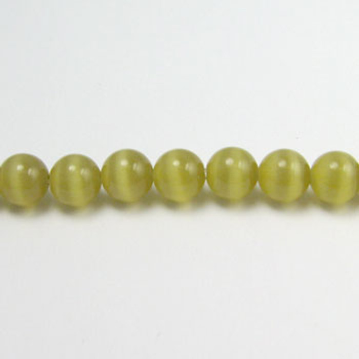 FOR006 - Olive Fiber Optic, Rounds (approx. 14in. strand) - 4MM*
