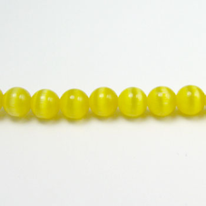 FOR004 - Dark Yellow Fiber Optic, Rounds (approx. 14in. strand) - 3MM