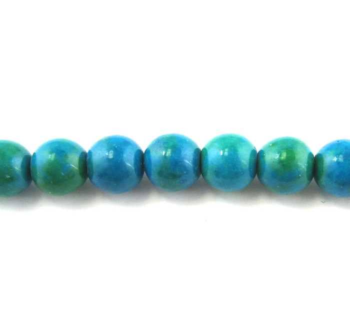 SPS0008 - Azurite Chrysocolla, 4mm Round (16 in. strand)