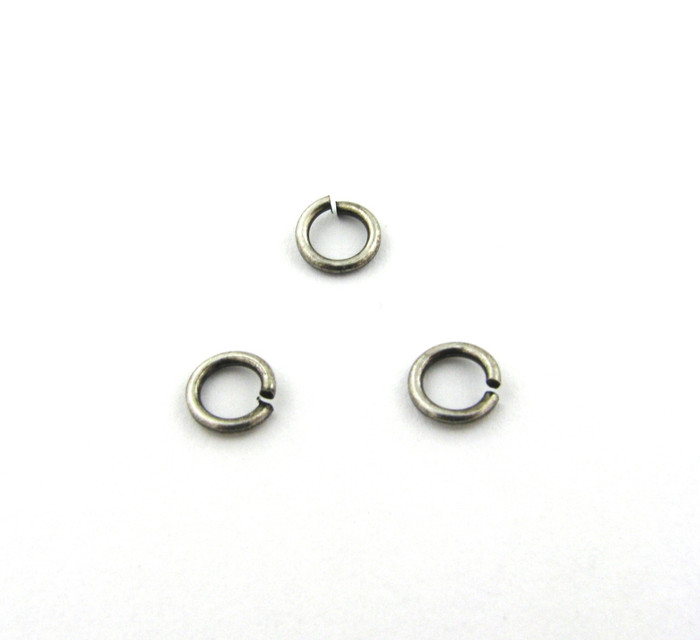 ASP002 - 6mm 18ga Open Jump Ring, Antique Silver Plated (pkg of 100)