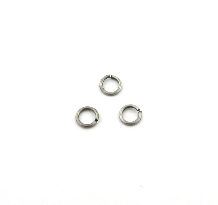 ASP007 - 6mm 21ga Open Jump Ring, Thin, Antique Silver Plated (pkg of 100)