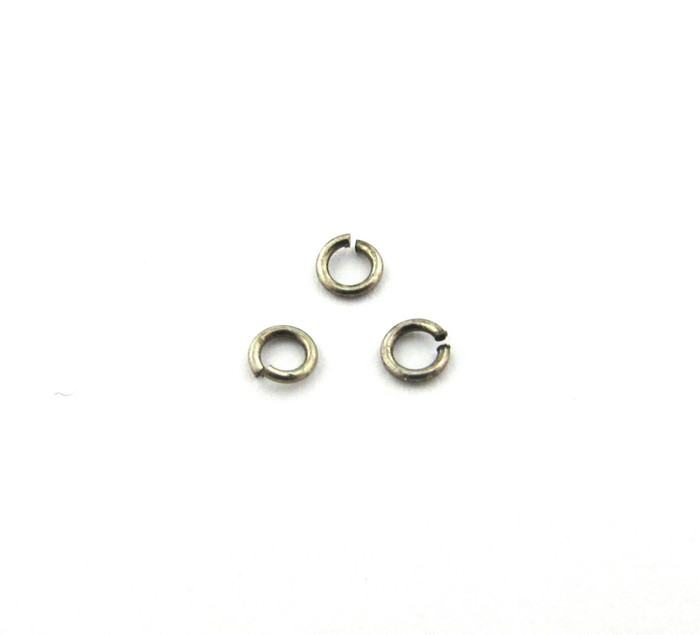 ASP008 - 3mm 22ga Open Jump Ring, Thin, Antique Silver Plated (pkg of 100)