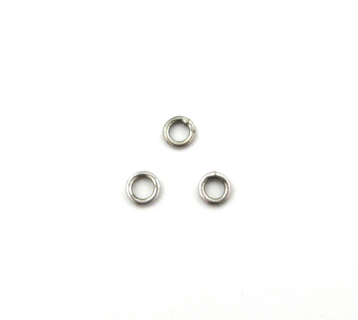 ASP009 - 4mm 18ga Closed Jump Ring, Antique Silver Plated (pkg of 50)