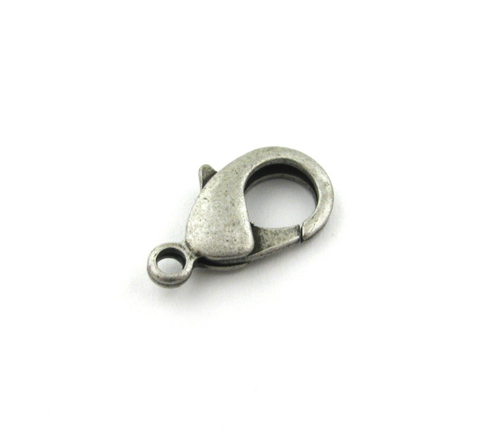 ASP014 - 27mm Lobster Claw Clasp, Antique Silver Plated (each)
