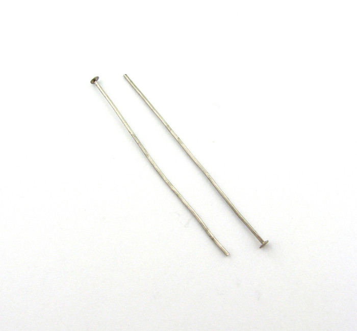 "ASP018 - 2"" 20ga Headpin, Antique Silver Plated (pkg of 50)"