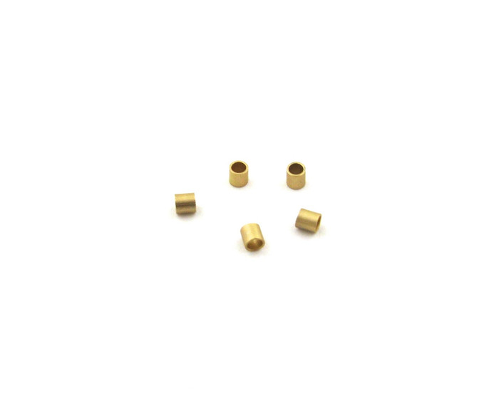 SHGP001 - 2x2mm Tube Crimps, Satin Hamilton Gold Plated (pkg of 100)