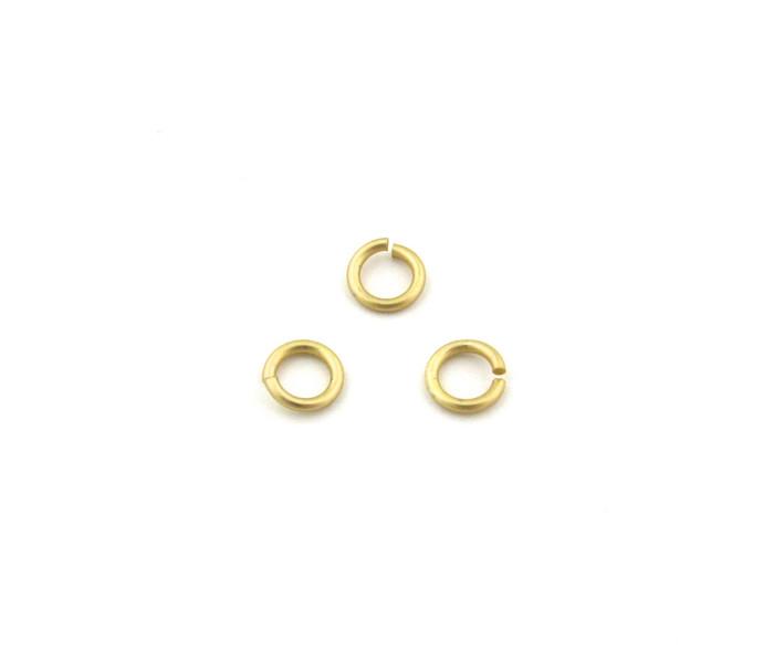 SHGP003 - 6mm 18ga Open Jump Ring, Satin Hamilton Gold Plated (pkg of 100)